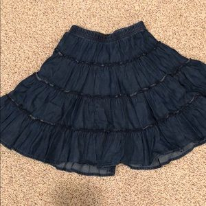 Girls Chambray Twirl Skirt from Hanna Andersson